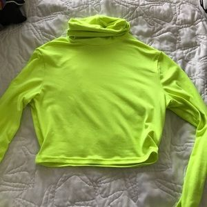 Tops - Neon green turtle neck